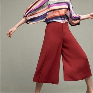 ANTHROPOLOGIE Essential Culotte Rust Burnt Orange